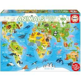 Puzzle 150 peças Mapa Mundo...