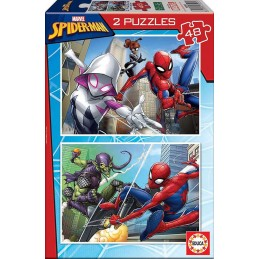 Puzzle 2 x 48 peças Spiderman EDUCA