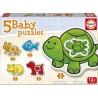 Jogo 5 Baby Puzzles animais