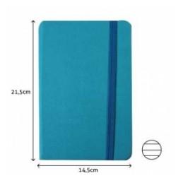 Bloco notas 14,5x21cm azul...