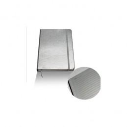 Bloco notas 14,5x21cm prata...