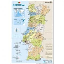 Mapa Portugal 27x40cm