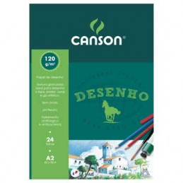 Bloco Desenho A2 Canson 120 gr