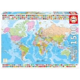 Puzzle Educa 1500 mapa Mundo
