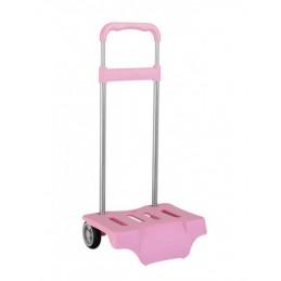 Carro para mochila rosa claro
