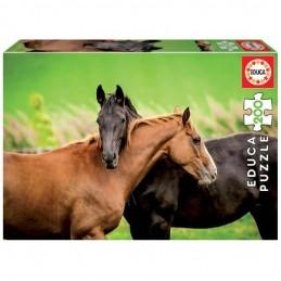 Puzzle 200 peças Cavalos EDUCA