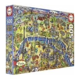 Puzzle Educa 500 peças Mapa...