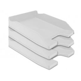 Tabuleiro plástico cinza