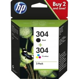 Pack HP 304 preto + 304 cor