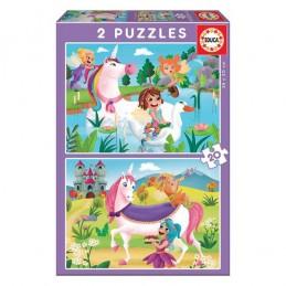 Puzzle 2 x 20 peças Educa...