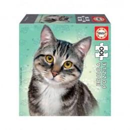 Puzzle Educa 100 peças Gato...