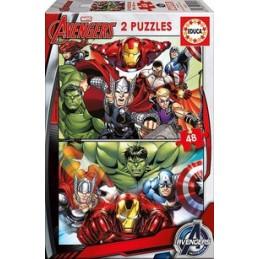 2 x puzzle 48 peças Educa Avengers