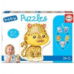 Jogo 5 Baby Puzzles animais...