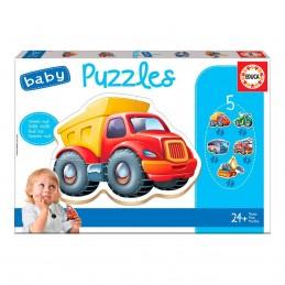 Jogo 5 Baby Puzzles veículos