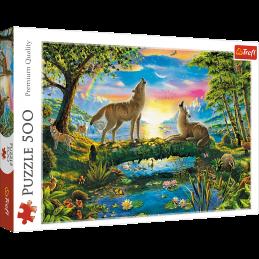Puzzle 500 peças Trefl Lobos