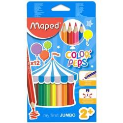 Caixa 12 lápis maped Jumbo...