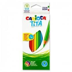 Caixa 12 Lápis Carioca Tita...