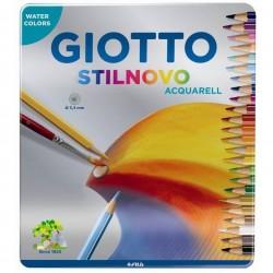 Caixa metálica 24 lápis...