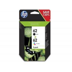 Pack Tinteiros HP 62 preto + 62 cor