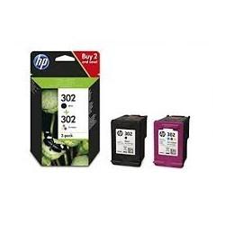 Pack HP 302 preto + 302 cor