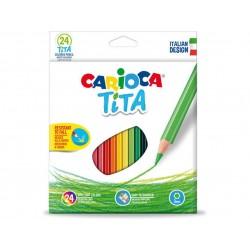 Caixa 24 Lápis Carioca Tita
