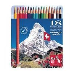 Caixa metálica 18 lápis...
