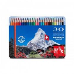 Caixa metálica 30 lápis Caran DAche Prismalo